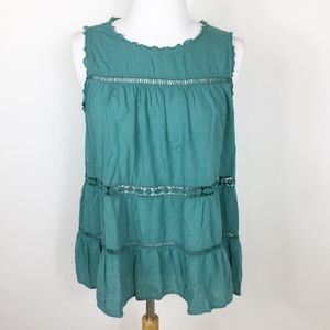 Loft Swing Tank Tiered Embroidered sz. MP
